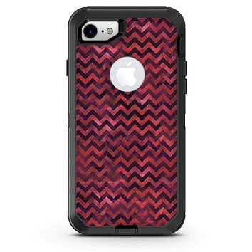 Wine Basic Watercolor Chevron Pattern - iPhone 7 or 8 OtterBox Case & Skin Kits