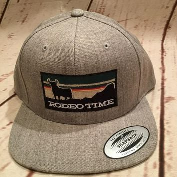 Dale Brisby Heather Grey Rodeo Time Sunset Snapback Cap