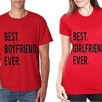 Best Boyfriend Best Girlfriend Ever Couple T-Shirt