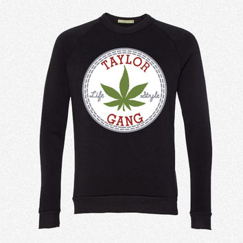 Taylor Gang Lifestyle fleece crewneck sweatshirt