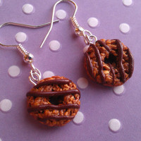 Girl Scout Cookie Charm Earrings - Samoas / Caramel deLites - Handmade by Starfall at Dusk