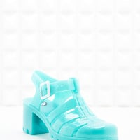 JuJu Babe Jelly Heel Sandals in Aqua Blue - Urban Outfitters
