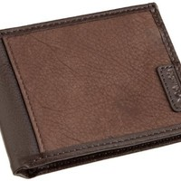 Columbia Men's Extra Capacity Slimfold Mixed Leather Wallet