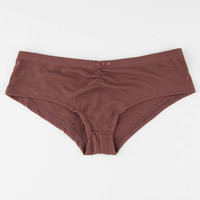 Ribbed Hipster Boyshorts Burgundy  In Sizes