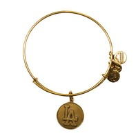 Alex and Ani Los Angeles Dodgers™ Cap Logo Charm Bangle - Russian Gold