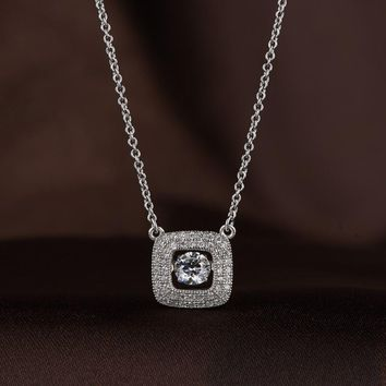 Royal Pristine Studded Swarovski Crystal Necklace