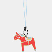 Dala Horse phone charm in Cherry