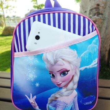 New adventure snow queen Elsa princess School Bag Girls backpack Kids christmas Gift
