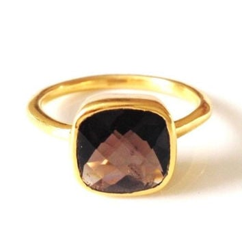 Claire Smoky Quartz Ring