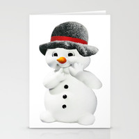 Snowman Stationery Cards by Knm Designs