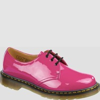Dr Martens 1461 Shoe HOT PINK PATENT LAMPER - Doc Martens Boots and Shoes