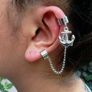 Silver Ear Cuff No Piercing Jewelry Chain