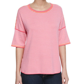 Reversible Striped Pullover, Size: