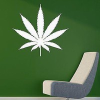 Wall Sticker Vinyl Decal Weed Smoke Rastafarian Cannabis Marijuana Drug Unique Gift (ig1143)