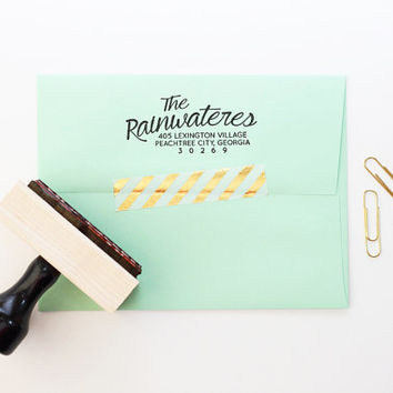 Return Address Stamp Wedding Invitation Stamp Rubber Stamp Calligraphy Address Label Personalized Stamp Custom Stamp Save the Date Stamp