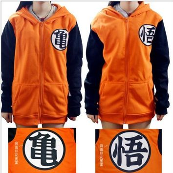 Fashion Dragon Ball Jacket Dragon Balls Z Goku Cosplay Hooded Zipper Hoodie Costume Unisex Cardigan Coat Jacket Clothes