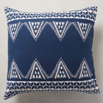 Ebisu Euro Sham in Navy Blue Euro Sham Size Bedding by Anthropologie