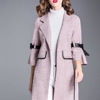 Pink Suede Trench Coat