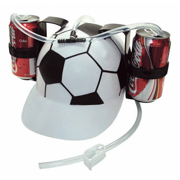 1pcs Hand Beer Soda Cool Party Bar Lazy Straw Drinking Cap Helmet Party holiday Game Beer Soda Dual can holder Drinking Hard Hat