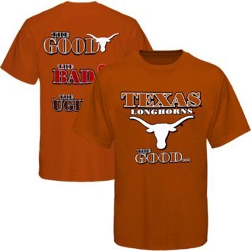 Texas Longhorns Youth The Good The Bad The Ugly T-Shirt - Burnt Orange