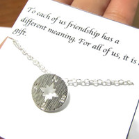 Silver Compass Necklace - B3