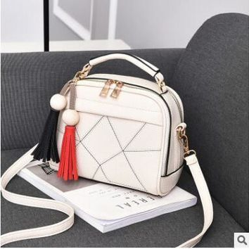 Small Leather Shoulder bags Girls Cross body Messenger bag Ladies Handbag and Purse