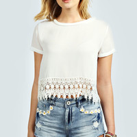 Lia Daisy Trim Denim Hotpants