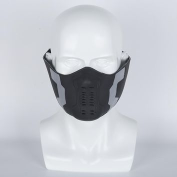1pcs Captain America Winter Soldier Bucky Barnes Cosplay Masks Half Face The Avengers 3 Superhero PVC Props On Sale!!!