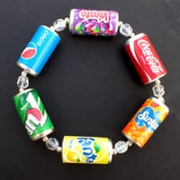 Kitsch MultiColoured Drink Can Bracelet with by KooKeeJewellery