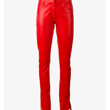 Leather Trousers with Split Hems - LOEWE