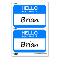 Brian Hello My Name Is - Sheet of 2 Stickers