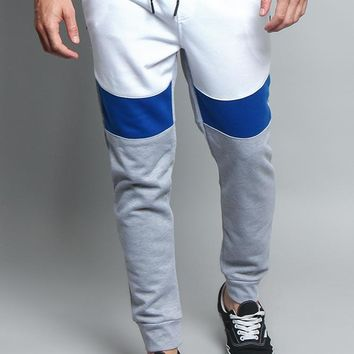 Tri Color Blocked Sweat Pants