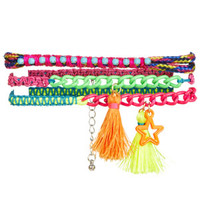 Tassel Friendship Bracelet Set - Multi
