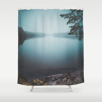 Lake insomnia Shower Curtain by HappyMelvin