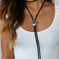 PYLO EMMYLOU BOLO TIE IN RAVEN