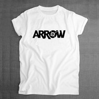 Green Arrow Superhero Logo 2016 Summer Mens Sublimation Graphic Print T-shirt Swag Skatboard Hip Hop Male White Printed Tshirt