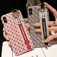 Burberry tide brand men's and women's wristband iphonexs mobile phone case cover