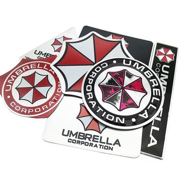 Car-styling 3D Resident Evil Umbrella Sticker Aluminum Emblem Badge Cool Car Trunk Metal Decals With Laptop stickers accessories