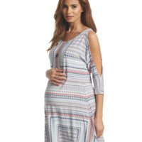 Naya Maternity Dress in Mini Aztec