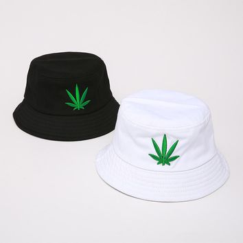 Men Women Maple Leaf Bucket Hat Hip Hop Fisherman Panama Hats Em 2695554b2acd