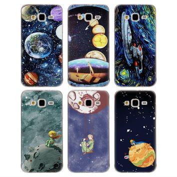 Soft TPU Phone case little princess rose planet Silicone tpu Phone Case for Samsung J310 J510 J710 J3 J5 Prime J7 2017 S8 S9 A8