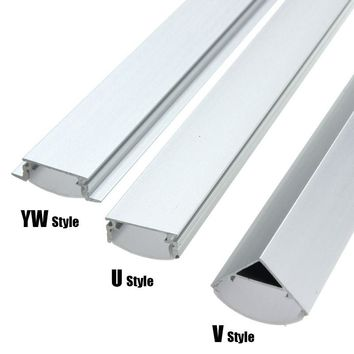 30 50cm U V YW-Style Shaped LED Bar Lights Aluminum Channel Holder Milk Cover End Up Accessories for LED Strip Light