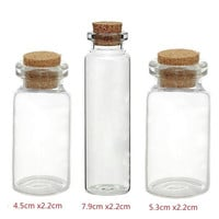 5PCs Tie Plug Tiny Glass Bottle Jewelry Vial Potion = 1705558468