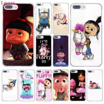 Lavaza Agnes fluffy unicorn Despicable Me Hard Phone Case for Apple iPhone 8 7 6 6S Plus X 10 5 5S SE 5C 4 4S