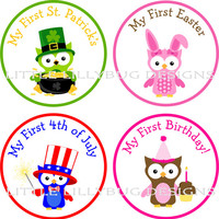 Baby's First Holiday Stickers, My First Christmas, My First Thanksgiving, My First Halloween, and More Girl