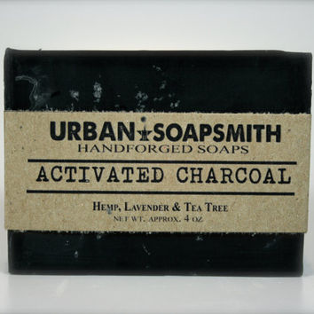 Activated Charcoal Soap - Lemongrass and Tee Tree - All Natural Soap, Handmade Soap, Detox Soap, Vegan Soap