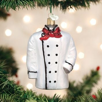 Old World Christmas Handcrafted Blown Glass Ornament -- Chef's Coat