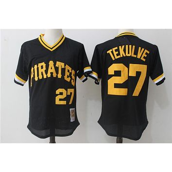 Mitchell & Ness Pittsburgh Pirates Kent Tekulve 1982 Cooperstown Collection Authentic Practice JerseyBlack