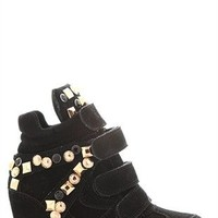 Sneaker Wedge with Chunky Studs