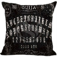 Black Goth Ouija Board Throw Pillow Cover